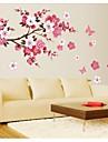 Botanique Romance Floral Forme Abstrait Fantaisie Stickers muraux Stickers avion Stickers muraux décoratifs Matériel Lavable Amovible