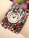 wutongshu kvinnors färgstarka spänne ädelsten prydnads klocka