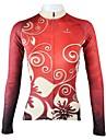 PALADIN® Maillot de Cyclisme Femme Manches longues Vélo Respirable Séchage rapide Maillot Hauts/Tops 100 % Polyester Floral / Botanique