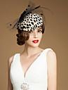 Femei Fata cu Flori Tul Lână Diadema-Nuntă Ocazie specială Informal Exterior Pălărioare Pălării/Căciuli