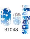 yemannvyou®14pcs mode neige noël nail art paillettes b1048 autocollant