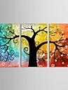 set panza de 3 botanice copac viata plina de culoare plin de speranță întins panza imprima gata să stea
