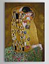Pictat manual Faimos Oameni Portrete Abstracte Vertical,Clasic Un Panou Canava Hang-pictate pictură în ulei For Pagina de decorare