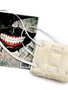 Mask Inspirerad av Tokyo Ghoul Cosplay Animé Cosplay Accessoarer Mask Vit Polar Fleece Man