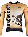 ILPALADINO Maillot de Cyclisme Homme Manches longues Vélo Respirable Garder au chaud Séchage rapide Résistant aux ultravioletsMaillot