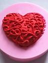 in forma de inima instrumente de decor fondant tort de ciocolată silicon mucegai tort, l4.8cm * w4.8cm * h1.2cm