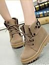 kvinnor skor mode stövlar rund tå kilklack boots fler färger tillgängliga