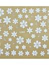 jul serie 3d snöflinga spik klistermärke