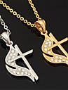 nya jesus kors hängsmycke charm halsband 18k guld platina rhinestone kristall smycken gåva för kvinnor