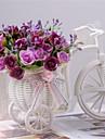 """Une succursale Polyester Plastique Roses Fleur de Table Fleurs artificielles #(L:6.7"""",H:3"""",W:6.2"""")"""