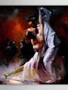 oljemålning folk dancer 1303-pe0217 handmålade duk