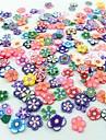 300pcs blandade stil Fimo slice blomma serie nail art dekoration