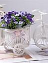 """8 """"h orchidées multicolores modernes en blanc panier vélo"""