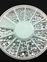 4 storlek 300st silver akryl strass nagel konst dekorationer