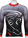 PALADIN® Maillot de Cyclisme Homme Manches longues Vélo Respirable Séchage rapide Résistant aux ultraviolets Maillot Hauts/Tops100 %