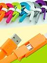 2 en 1 USB à 8 broches / microUSB charge les données de synchronisation câble plat pour iPhone5 / 5s / 6/6 plus / samsung 1m 3.3ft