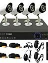 twvision® 8ch kanal 960h hdmi CCTV dvr 4x utomhus 800tvl säkerhet kamerasystem
