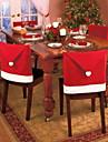 1st juldekorationer Santa röd hatt stol tillbaka omslag