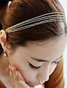 gyllene tofsar väva skiktade metall kedja hårband