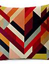 flerfärgad geometrisk bomull / linne dekorativa örngott