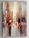HANDMÅLAD Abstrakt Vertikal,Klassisk Traditionellt En panel Hang målad oljemålning For Hem-dekoration