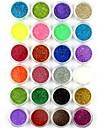 24st liten nagel konst glitter pulver nagel konst folie pulver arylic pulver för nageldekorationer