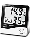 digitala hushållstemperatur luftfuktighet mätare med kalendertid väckarklockan funktion Boyang htc-1