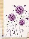 Wall Stickers Wall Decals Purple Flower Decorative Sticker