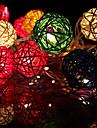 20LED 2,5 millions de Noël décoratifs guirlandes lumineuses en rotin (AC220V), couleur aléatoire