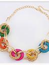 Miki kvinnors oregelbunden geometri cirkel kort halsband