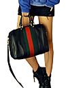 Modèle coréen de Erlen femmes Colorful Stripes Vintage une épaule / sac à bandoulière (noir)