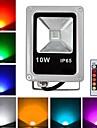 10W LED-strålkastare 1 Högeffekts-LED 800 lm RGB Fjärrstyrd AC 85-265 V
