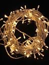 10m 9.6w jul blixt 100-ledda varmvit / svalt vitt ljus remsa ljus lampa (EU-kontakt, ac 220V)