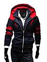 Lesen män hoodie mode kontrastfärg falska två stycken vardagligt hoodie o