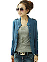co co Zhang femei guler suport solid de culoare dublu piept palton