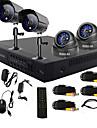 twvision® 4 Channel One-touch système DVR de vidéosurveillance en ligne (4 canaux d'enregistrement d1)