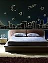 vägg klistermärken väggdekaler stadsarkitektur dekorativa lysande klistermärke