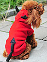 Chat / Chien Costume / Pulls à capuche Rouge Vêtements pour Chien Hiver / Printemps/Automne Ange et Diable Mignon / Noël / Nouvel An
