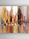 HANDMÅLAD Abstrakt Horisontell,Traditionellt En panel Hang målad oljemålning For Hem-dekoration