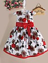 Girls Flower Print Bow Party Pageant Birthday Princess Lovely Kids Clothing Dresses