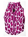 Chat Chien Manteaux Gilet Rouge Rose Vêtements pour Chien Hiver Printemps/Automne Léopard Garder au chaud