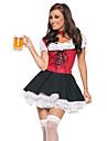 Costumes de Cosplay Costume de Soirée Fête d'Octobre/Bière Ethnique et Religieux Fête / Célébration Déguisement d'Halloween Rouge Mosaïque