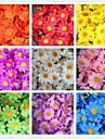 50pcs 4cm 10colors soie artificielle fleur du soleil tête de marguerite fête de mariage de la maison favorise centres de table décorations