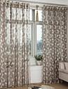 Deux Panneaux Le traitement de fenêtre Néoclassique Européen , Feuille Chambre à coucher Polyester Matériel Rideaux opaquesDécoration