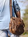 Nouveau en cuir de la toile des hommes de cru épaule Satchel Ecole Militaire Sac Messenger Bag