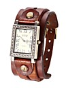 Mulan unisexe montre-bracelet à quartz bande de cuir vintage (couleurs assorties)