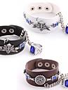 black butler faustien symbole de contrat cosplay PU Bracelet en cuir avec anneau