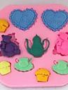 oursons aime le thé outils fondant gâteau au chocolat moule en silicone gâteau de petit gâteau de décoration, l8.1cm * * w7.9cm h0.9cm