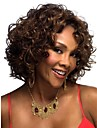 perruque courte de brun foncé bouclés mode femme