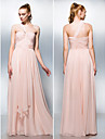 TS Couture® Formal Evening / Prom / Military Ball Dress - Pearl Pink Plus Sizes / Petite A-line / Princess One Shoulder / Sweetheart Floor-length